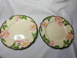 Vintage Franciscan China Desert Rose Set of 2-5.5 inch Saucer Plates - $11.88