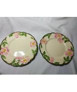 Vintage Franciscan China Desert Rose Set of 2-5.5 inch Saucer Plates - $11.88