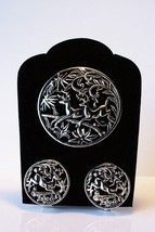 Vintage Sarah Cov Woodland Flight Pendant/Brooch Pin Earring Demi Set Re... - $19.79
