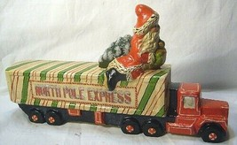Vaillancourt Follk Art Santa Riding the North Pole Express  SIGNED!    no. 17036 image 2