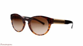 Burberry Women's Sunglasses BE4205 355913 Havana/Brown Gradient Lens Round - $130.95