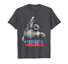 Dad Shirts - Cool 4th of July Patriot Sloth Merica T Shirt for Women Men... - $19.95+