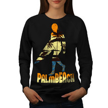 Beach Surf Sun Holiday Jumper Miami Holiday Women Sweatshirt - $18.99