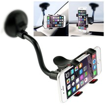 Car Phone Mount Windshield, Long Arm Clamp, Universal Dashboard with Dou... - $8.59