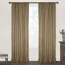 Country Curtains Set of 2 Fully Lined Beige Embroidered Curtain Panels S... - $50.00