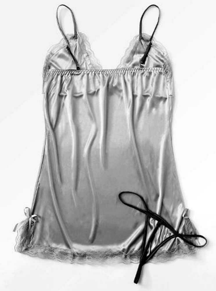 2pc Camisole Set with Thong Silver Color sizes M, L, XXL