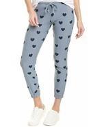Chaser Navy Hearts Cozy Knit Lounge Pants Haze ( XL ) - $66.46