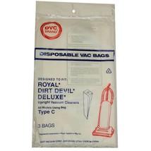 DVC Royal Dirt Devil Type C Vacuum Cleaner Bags Made in USA [ 75 Bags ] - $50.37