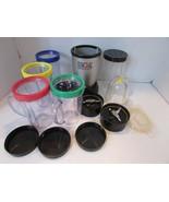 MAGIC BULLET BLENDER MB1001 PERSONAL SET W/CUPS BLADES RINGS BLACK/SILVE... - $28.66