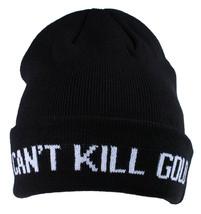 Gold Skateboarding Black Can't Kill Gold Fold Skate Beanie Knit Winter Skull Cap image 1
