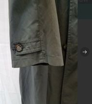 """Vintage Giorgio Armani Long Olive Green Trench Rain Coat 54"""" Chest Made in Italy image 8"""