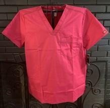 Dickies Nursing Scrub Top Pink Flex Unisex XL - $6.99