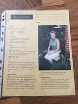 Black Purl Knitting Pattern  Marlo Sleeveless Ladies Cable Sweater 32-42 - $6.26