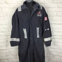 Westex FR Flame Resistant Coveralls Mens 50R Reflective Trim Safety Stri... - $74.78