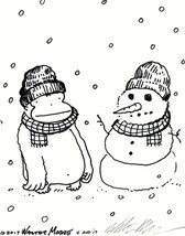 Ape Makes Snow Ape Twin. Original Signed Cartoon by Walter Moore - $9.44