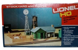 Lionel HO Stockyard  w/Figures, Authentic Building Kit New, w/cellophane 5-4555