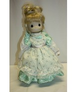 """14"""" Precious Moments Porcelain Doll with Mint Green Dress - $19.79"""