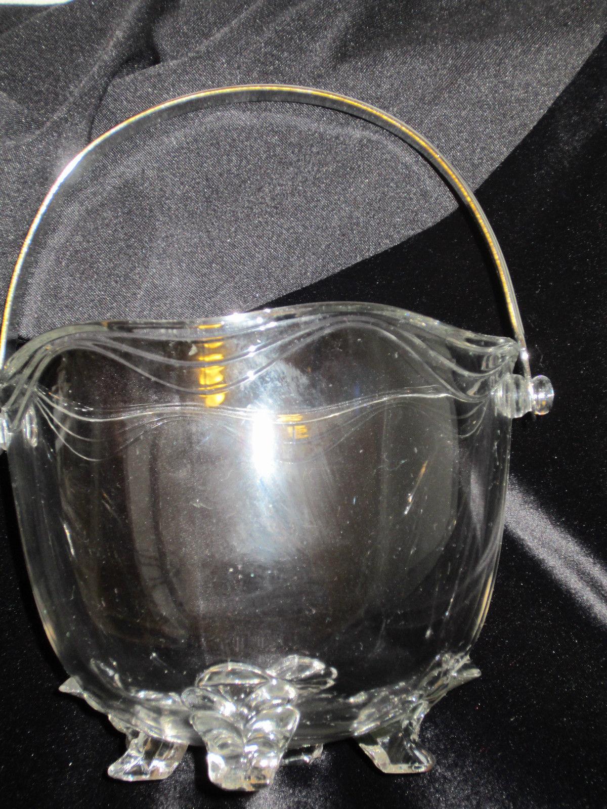 FOSTORIA CRYSTAL ICE BUCKET CORONET VINTAGE
