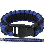 Thin Blue Line Law Enforcement Support The Police Survival Paracord Brac... - $7.99+