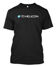 TC Helicon Logo desain 2- Custom Men's Black T-Shirt Te - $17.99+