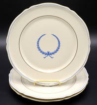 """Rosenthal Empire * 3 Luncheon / Lunch Plates * 9 3/8"""", Blue Wreath, Excellent! - $21.99"""