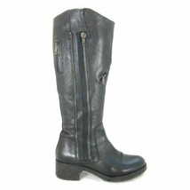 8.5 - Vera Wang $475 Tall Pebbled Leather Side Zip Evan Knee High Boots ... - $90.00