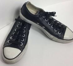 Converse Chuck Taylor Unisex Sneaker Men 5 Women 7 Black Leather Tennis Shoe - $29.69