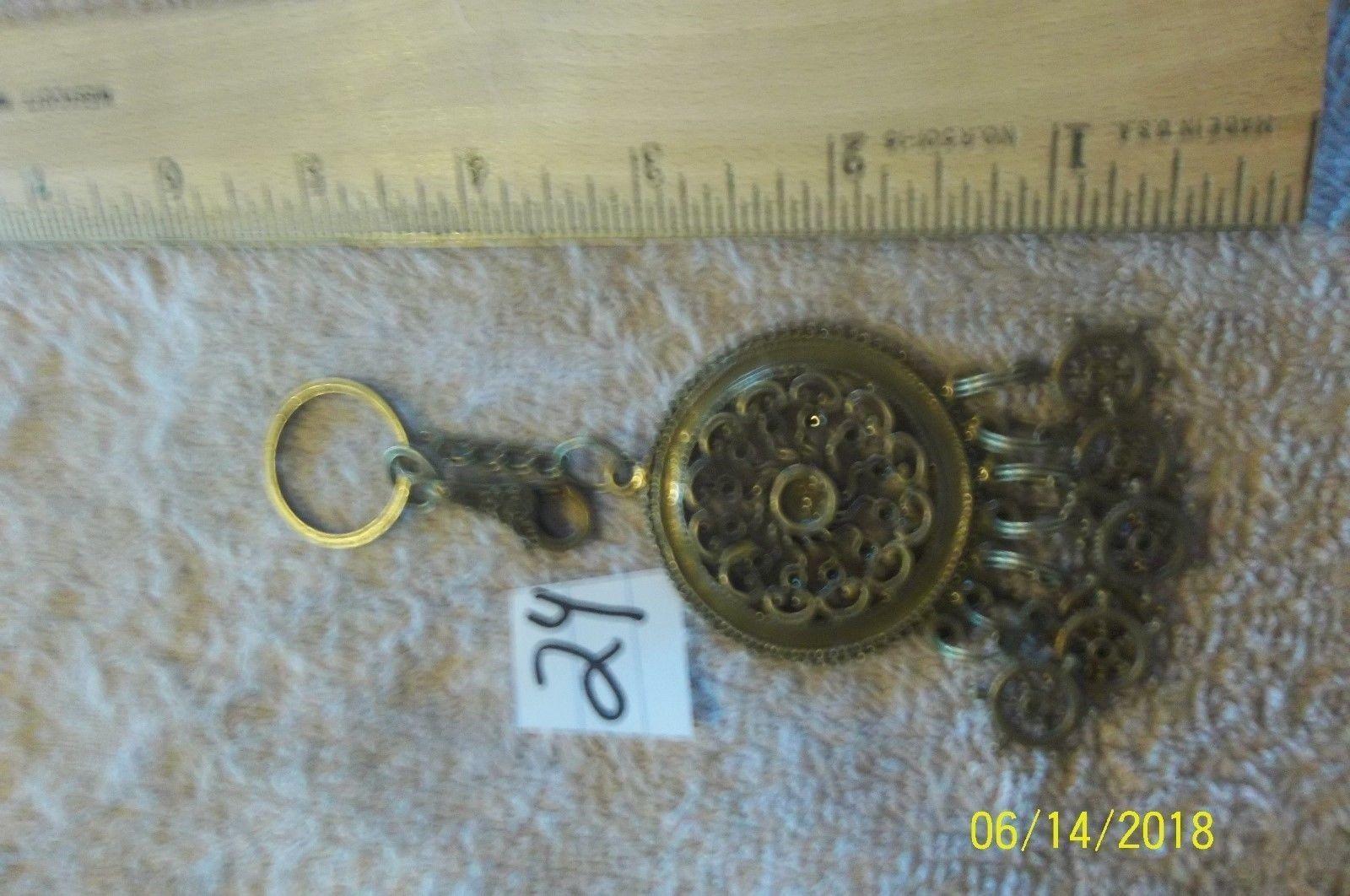 # purse jewlrey bronze color keychain backpack filigree dangle charms #24 image 2