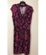 Tommy Bahama Indigo Flora Cap Sleeve Dress - Size M - Rum Berry - Missin... - £26.46 GBP