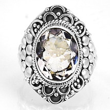 White Quartz 925 Sterling Silver Ring Jewelry s.7 SDR6993 - $30.34