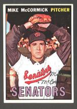 1967 Topps #86 Mike McCormick Senators Ex/Mt - $4.50