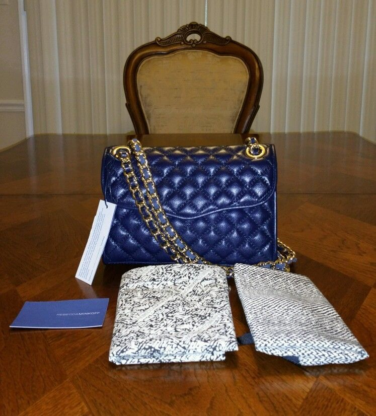 Primary image for NWT Rebecca Minkoff Mini Quilted Affair Shoulder Bag Ink