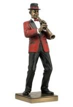 Clarinet Player Statue Sculpture Figurine - Jazz Band Collection - $74.07
