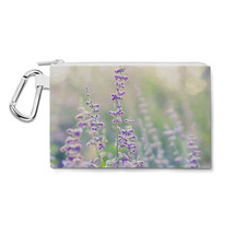 Lavender at Dusk Canvas Zip Pouch - $15.99+