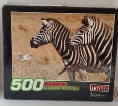 """According to Hoyle Zebras 500 Piece Jigsaw Puzzle 13.5"""" x 19"""" Factory Ne... - $9.49"""