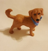 Cutest brown dog Figurine Toy Figure Hard Plastic Unbranded cake topper ... - $15.79