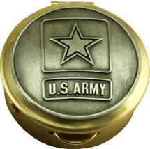 Army Star Logo Keepsake Pill Box Made In Usa - $31.58
