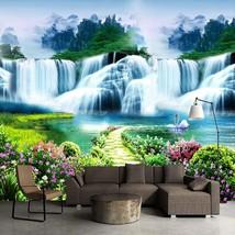 """3D Wallpaper """"Forest Waterfalls"""" - $35.00+"""