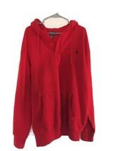 Polo Ralph Lauren Red Hoodie NWOT Pullover Quarter Button MSRP $98 Tall XLT - $66.50