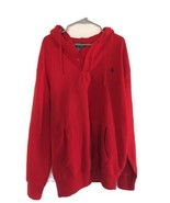 Polo Ralph Lauren Red Hoodie NWOT Pullover Quarter Button MSRP $98 Tall XLT - $66.50