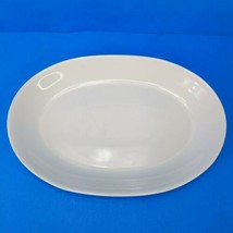 Pfaltzgraff Hearth White Large Oval Platter 15.75 Inches Long - $14.54