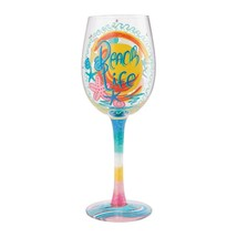 "Beach Life ""Designs by Lolita"" Wine Glass 15 o.z. 9""  Gift Boxed"
