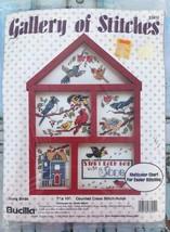 Bucilla Gallery Of Stitches SONG BIRDS Vintage Cross Stitch Hutch Sealed - $13.46