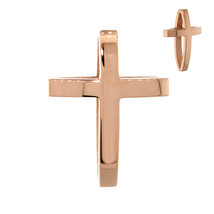 22mm 3D Open Cross Charm in 18K Gold - $504.00