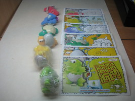 Kinder - 2009 NV017-022 Dinosaurs - complete set + 6 papers - surprise eggs - $7.00