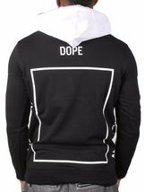 Dope Couture Black White Bougie Crew Track Pullover Hoody Hooded Sweater NWT image 3