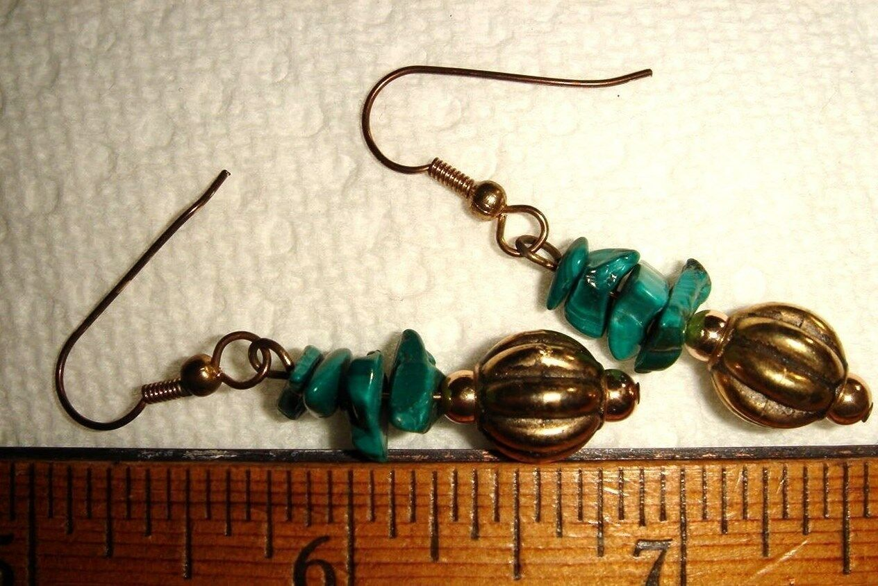 VTG ROSS SIMONS PEARL MALACHITE NECKLACE COIL MEMORY BRACELET DANGLE EARRING SET