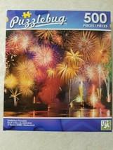 Puzzlebug 500 Pc. Puzzle Celebration Fireworks New Sealed Free US Shipping  - $8.42