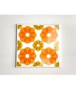 Villeroy & Boch Tile Trivet Gold Tone Holder Floral Vintage Flower - $18.55