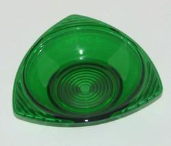 Vintage Anchor Hocking Emerald Green Depression Glass Triangle Bowl - $18.79